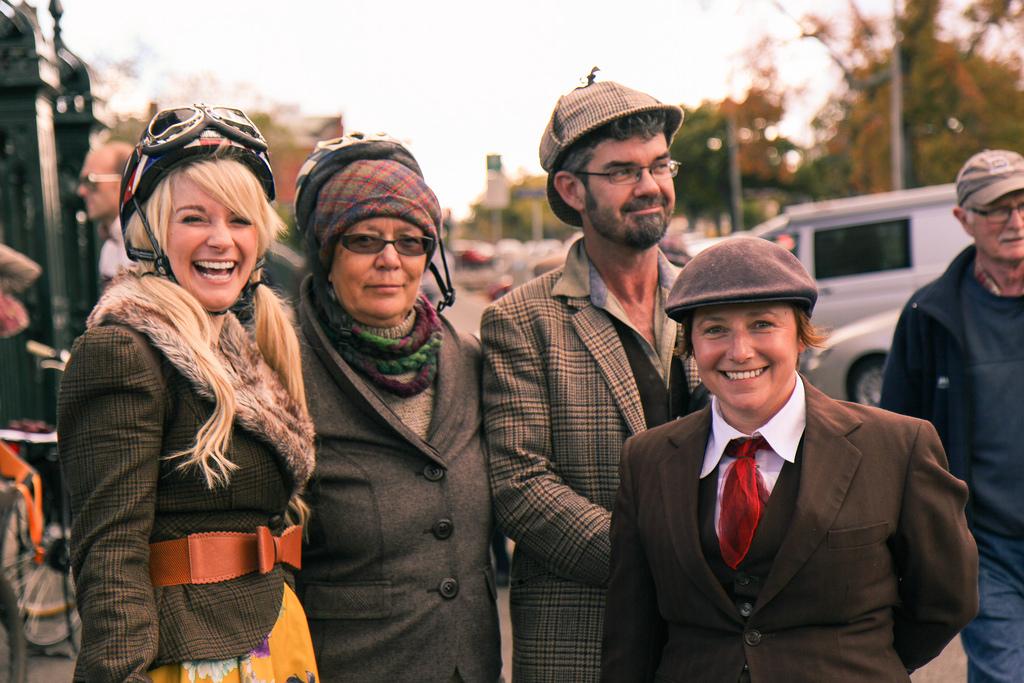 Ballarat Heritage Weekend - Tweed Ride 2014.