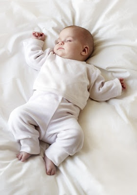 lovely baby sleeping and dreaming