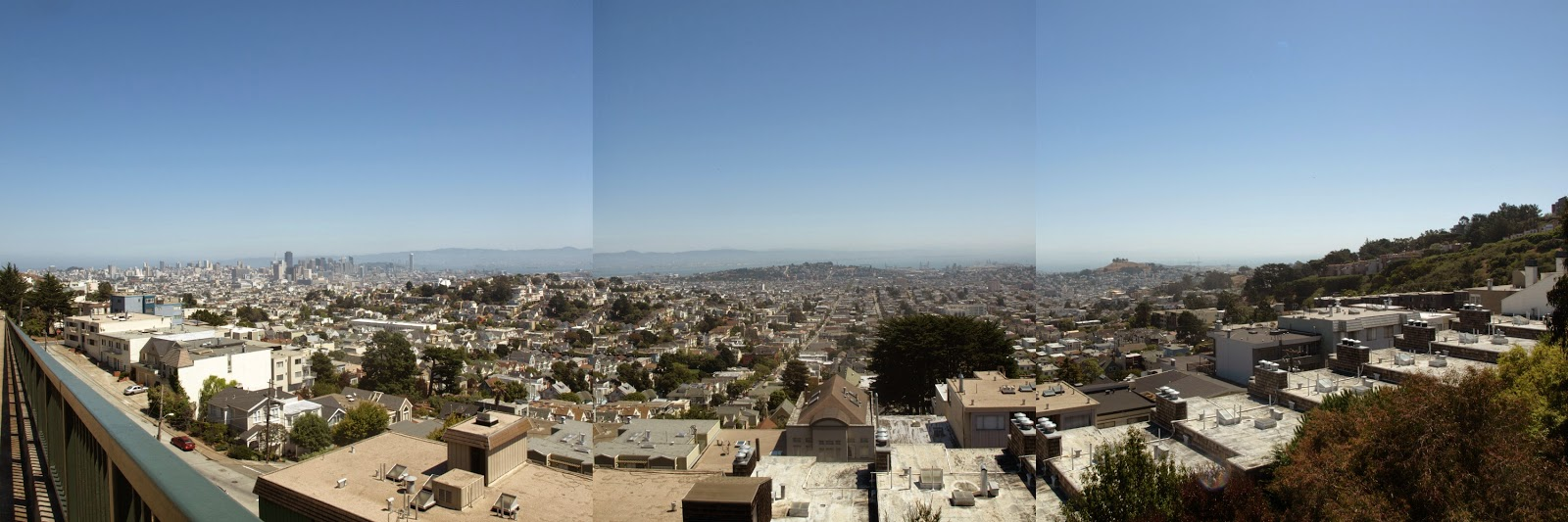 Panorama from the top of Twin Peaks