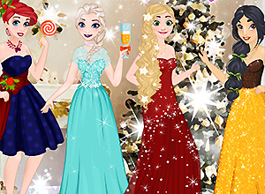 Disney Princess Glittery Party