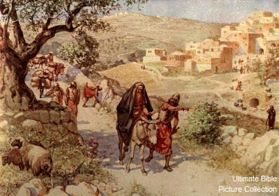 David flees Jerusalem - Artist unknown