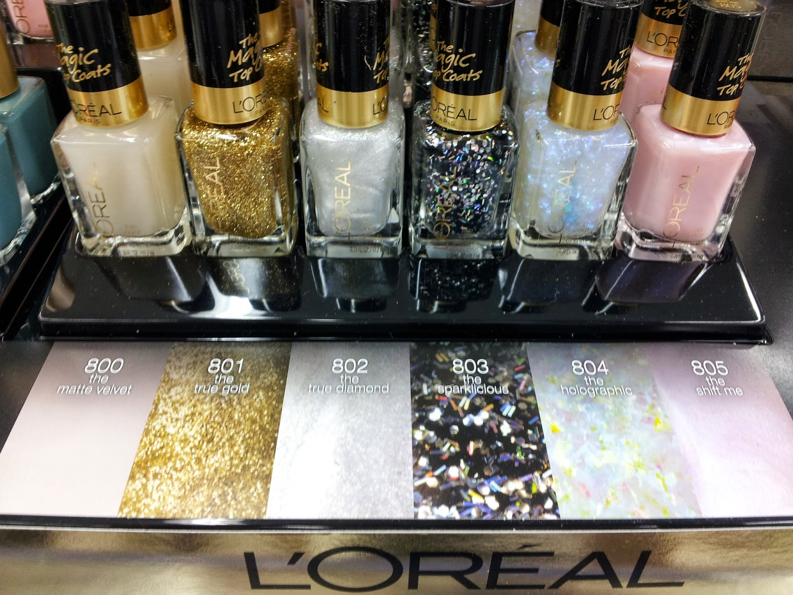 Spotted! New L\'Oreal Magic Top Coats and True Diamond Swatch   The ...