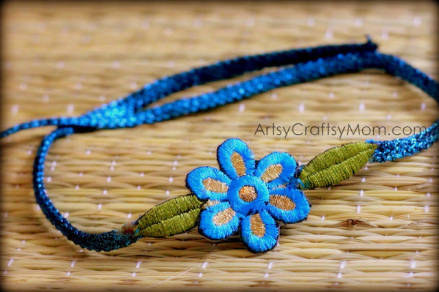 Zari design Rakhi - We have 15 best ideas to make Rakhi at home for Rakshabandhan - Perfect rakhi ideas for kids to make, rakhi competition, best of waste, simple and handmade with detailed step by step images- ArtsyCraftsyMom