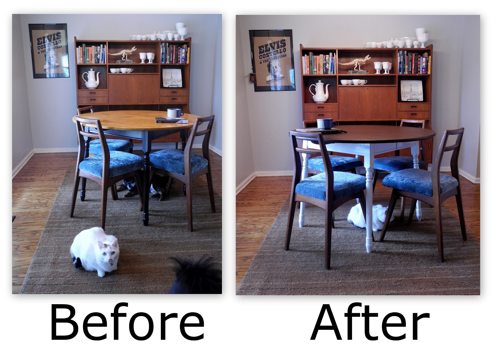 Librarian Tells All: Kitchen Table Makeover Stripping And. Full resolution‎  img, nominally Width 1600 Height 1139 pixels, img with #2964A2.