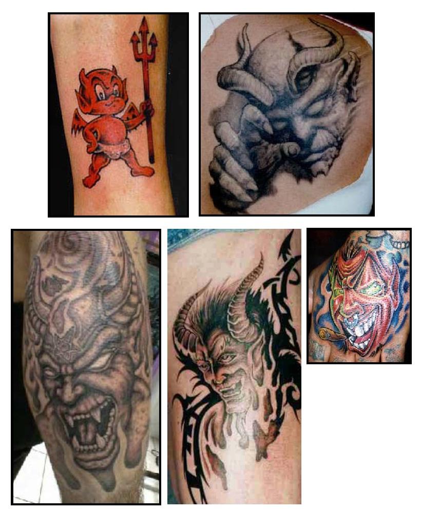 Devil tattoos tattoos designs flower tattoo design for Satanic tattoo designs