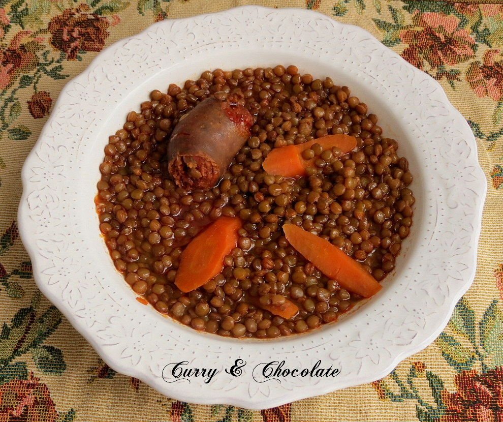 Potaje de lentejas pardinas - Lentil stew