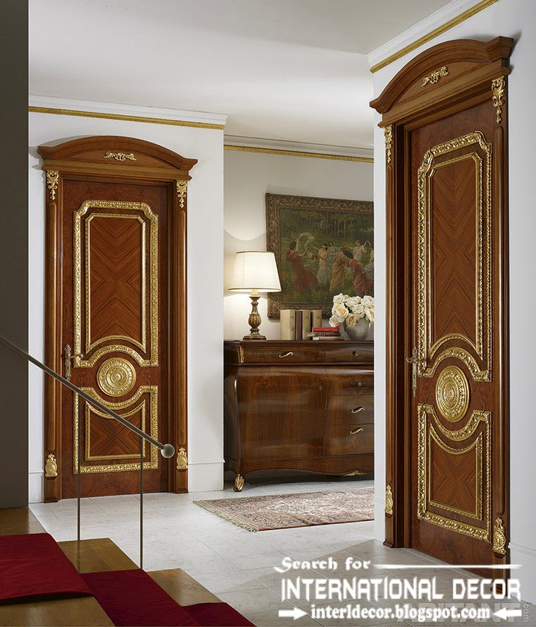 luxury interior doors 2015 for classic interior, Italian door empire style
