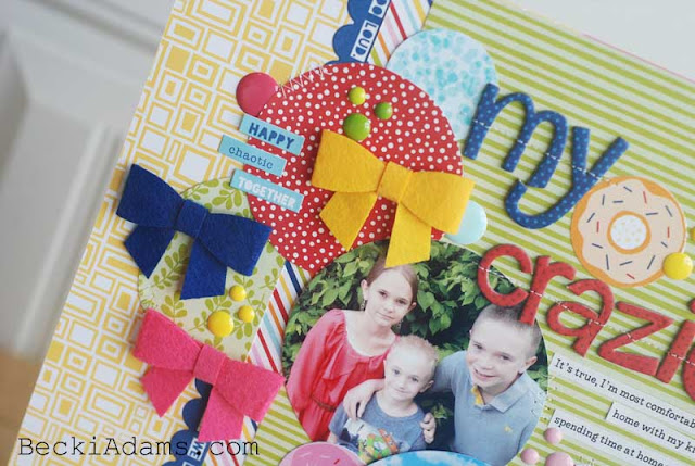 How to Create a Layout using Circles of Patterned Paper by @jbckadams (Becki Adams) for Bella Blvd #scrapbooking #papercrafting #bellablvd