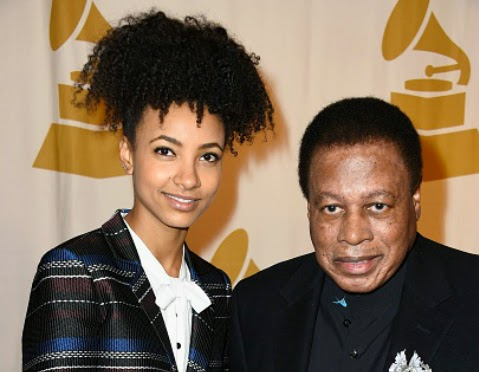 Esperanza Spalding and Lifetime Achievement Award recipient Wayne Shorter arrive at the 2015 Special Merit Awards Ceremony & Nominees Reception on Feb. 7 in Los Angeles