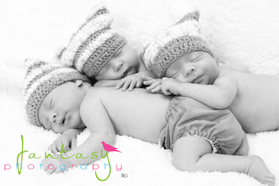 Winston Salem Triplet Newborn Photographer - Fantasy Photography