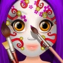 Kids Face Paint App iTunes App Icon Logo By Ninjafish Studios - FreeApps.ws
