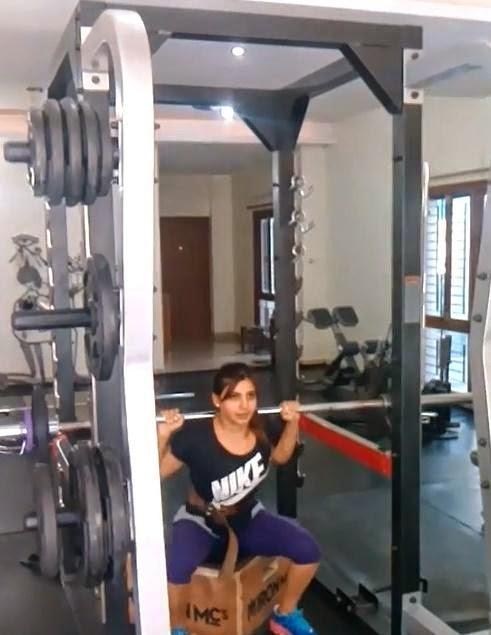 Samantha Ruth Prabhu Gym Photos