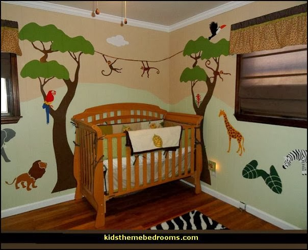 Kids Bedroom Jungle Theme decorating theme bedrooms - maries manor: jungle baby bedrooms