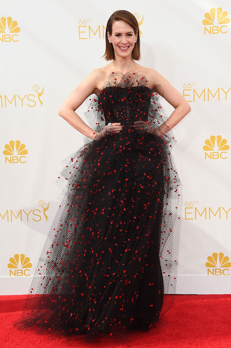 Sarah Paulson in Armani at the Emmy Awards
