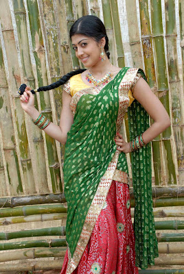 Actress Praneetha Half Saree Photos