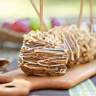 Peanut Butter Stuffed Caramel Apples