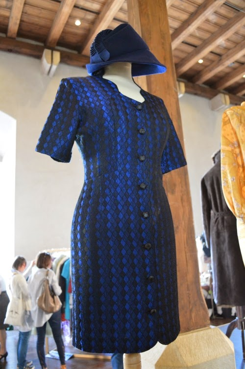 prague vintage fair 2014, blue, dress, hat
