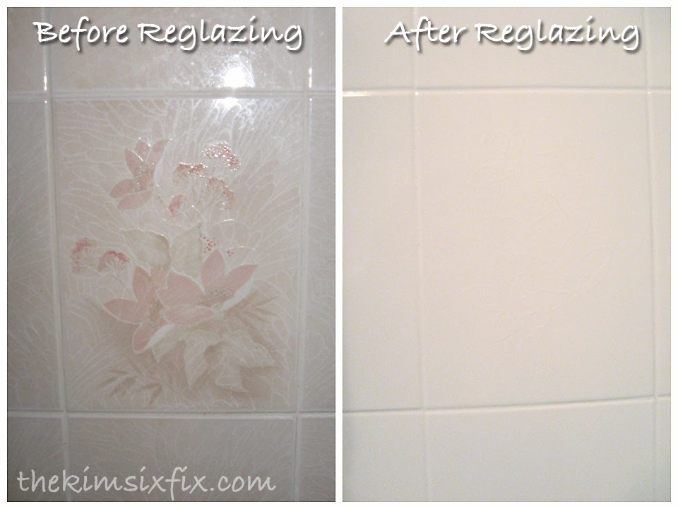 The vast bulk of the money   550  went to having the walls and tub surround  professionally reglazed pure white since there was NO SAVING that ugly tile. Guest Bathroom Makeover  Flashback Friday    The Kim Six Fix