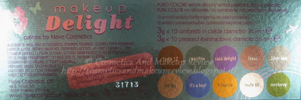 Neve Cosmetics - Makeup Delight Palette - informazioni
