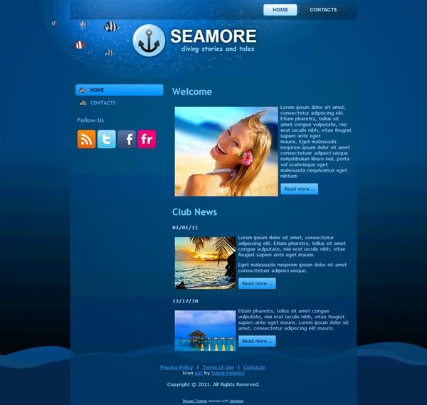 SeaMore - Free Drupal Theme