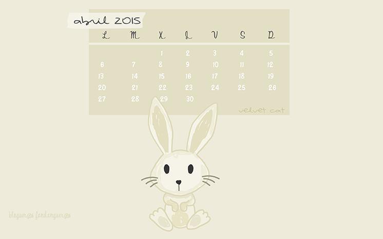 wallpaper calendario abril 2015