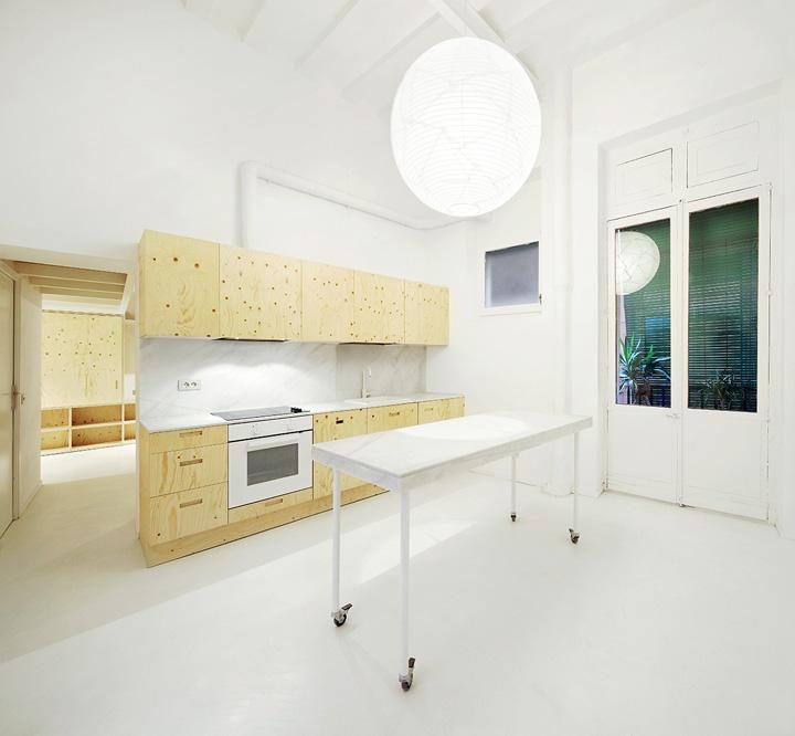 Cocina reforma vivienda en el Born. Arquitectura-G