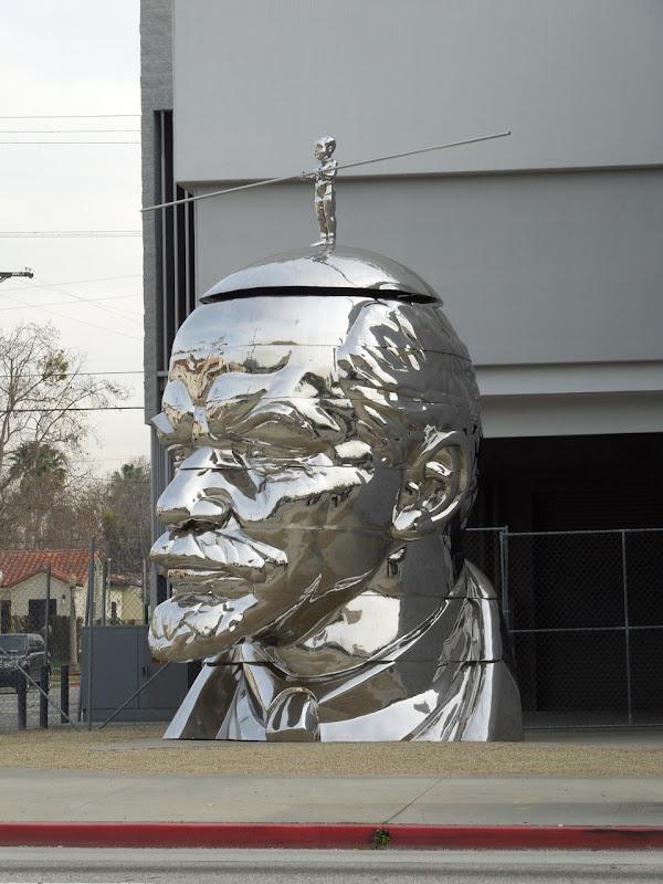 Miss Mao Top of Lenin Head sculpture LA
