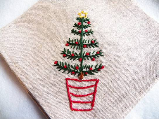 Art Threads Monday Project Christmas Tree Embroidery Pattern