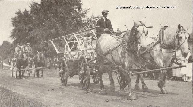 Fireman's, Muster, Main Street, horse