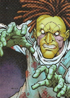 Front of New 52 DC Comics trading card #18 Dollmaker