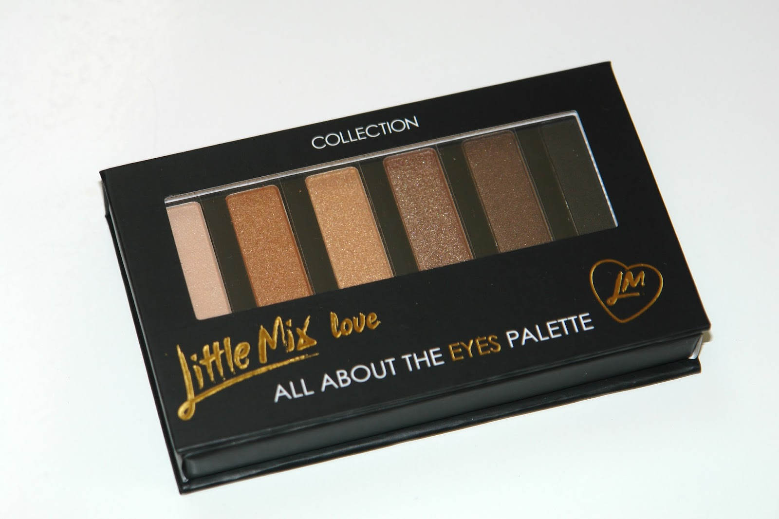 COLLECTION Little Mix Eye Palette review, Collection, palette, eye shadows, make up, review, swatches, UK blog, blogger, beauty blog, bbloggers, All About The Eyes Palette, Little Mix,  lip balms in Natural Shimmer (Perrie), Vanilla  (Jesy), Mint (Leigh-Ann) and Raspberry (Jade)