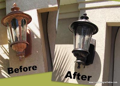 outdoor light fixture makeover