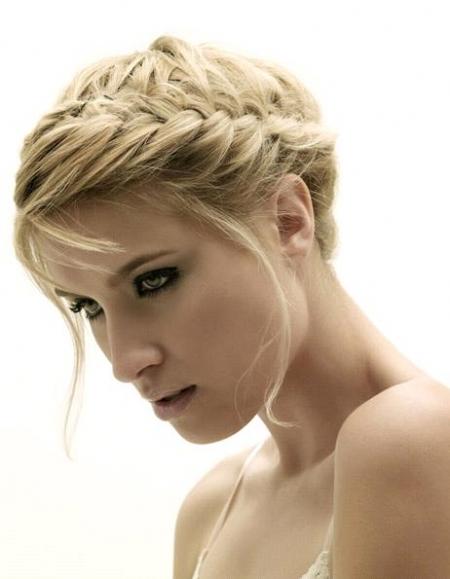 Peinados De Trenzas De Espiga - Peinado con trenzas de espiga laterales Photo 92 Foto