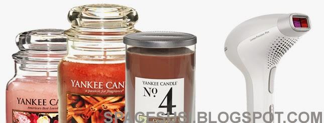 ipl epilace, yankee candle, svíčky