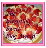 Irresistibly Sweet Blog Award