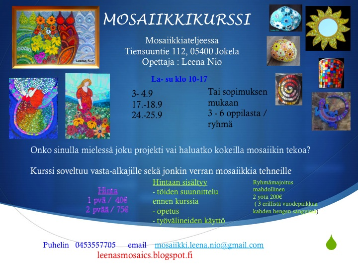 Mosaiikkikurssit
