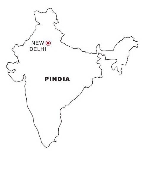 Mapa y Bandera de India para dibujar pintar colorear imprimir ...