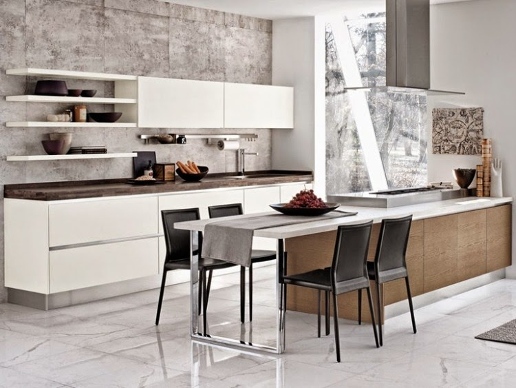 White Kitchen Units modern white gloss kitchen units combined with other colors