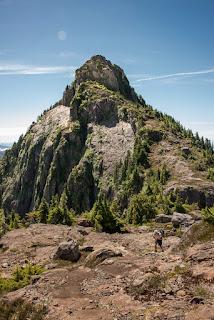 North Face of the summit massif, Uchucklesit Peak, Alberni Valley