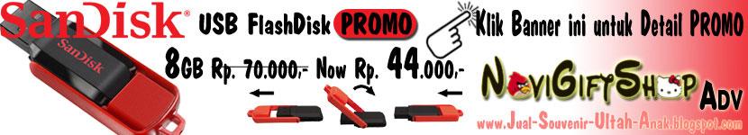 Iklan NoviGiftShop - Promo USB FlashDisk SanDisk