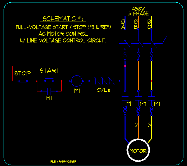 Start Stop Motor Control Circuit