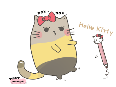 doodle,katun,comel,cute,kucing,hello kitty