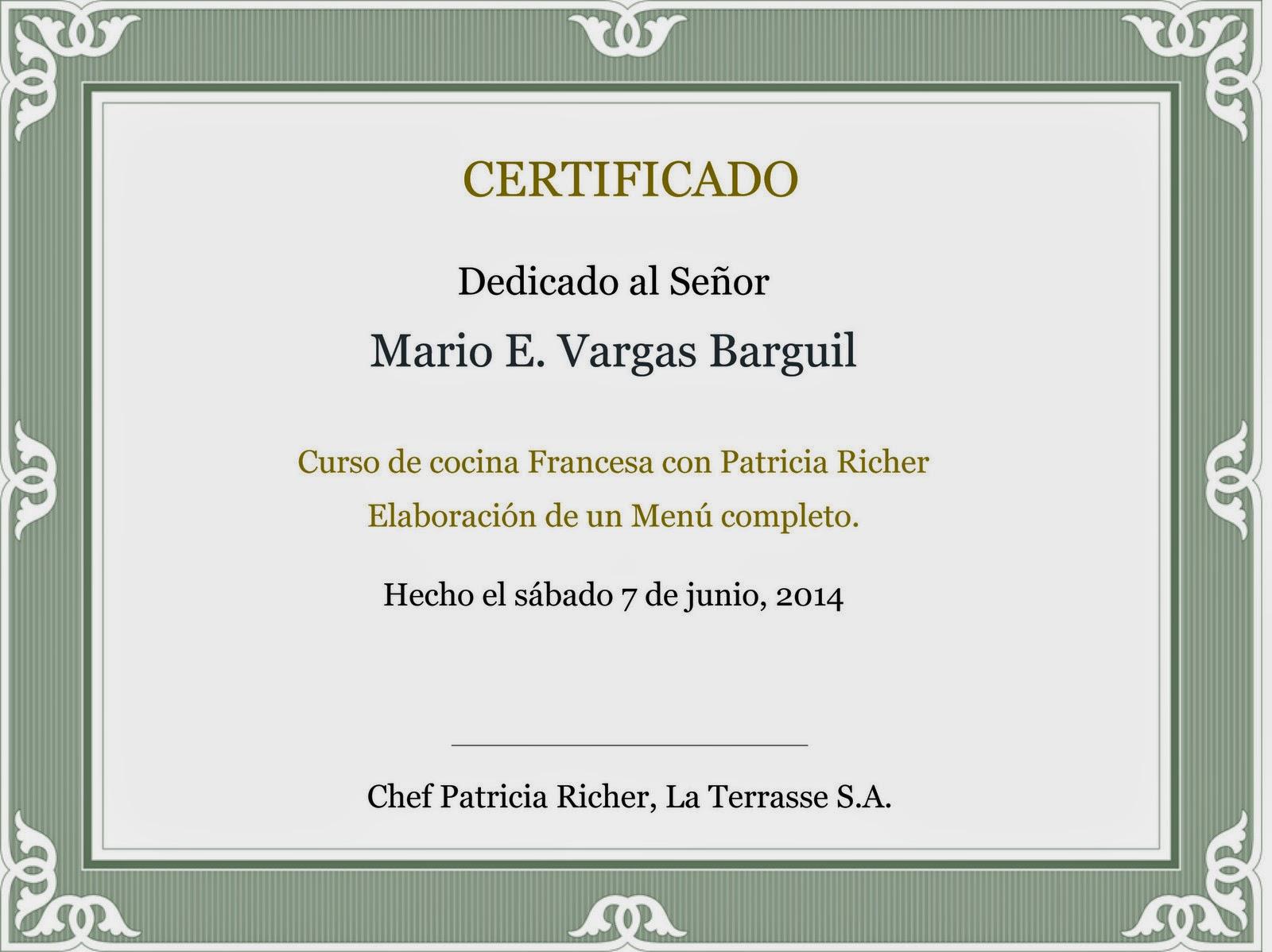 la terrasse french cuisine curso de cocina