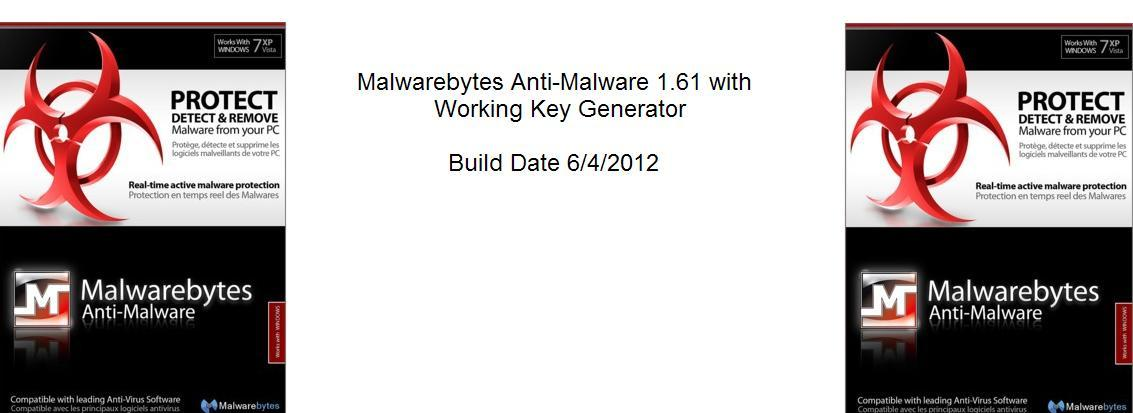 Malwarebytes Anti-Malware 1.61 With Working Key Generator