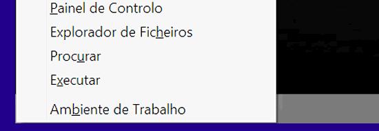 Atalho Windows 8 para o menu de ferramentas uteis