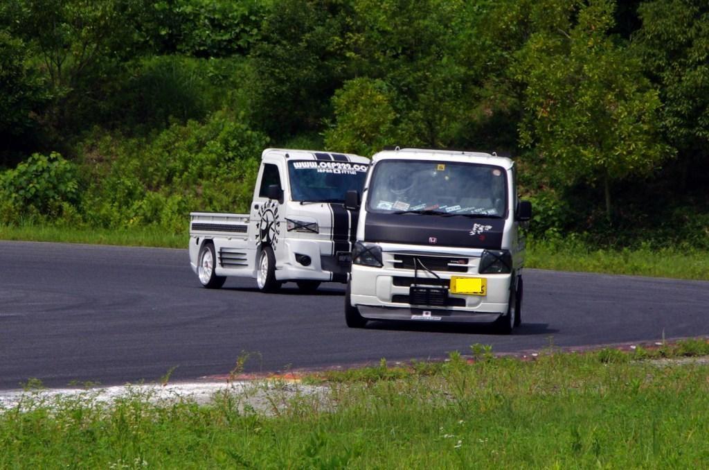 Honda Acty, mała ciężarówka, tor wyścigowy, JDM, kei truck, zdjęcia