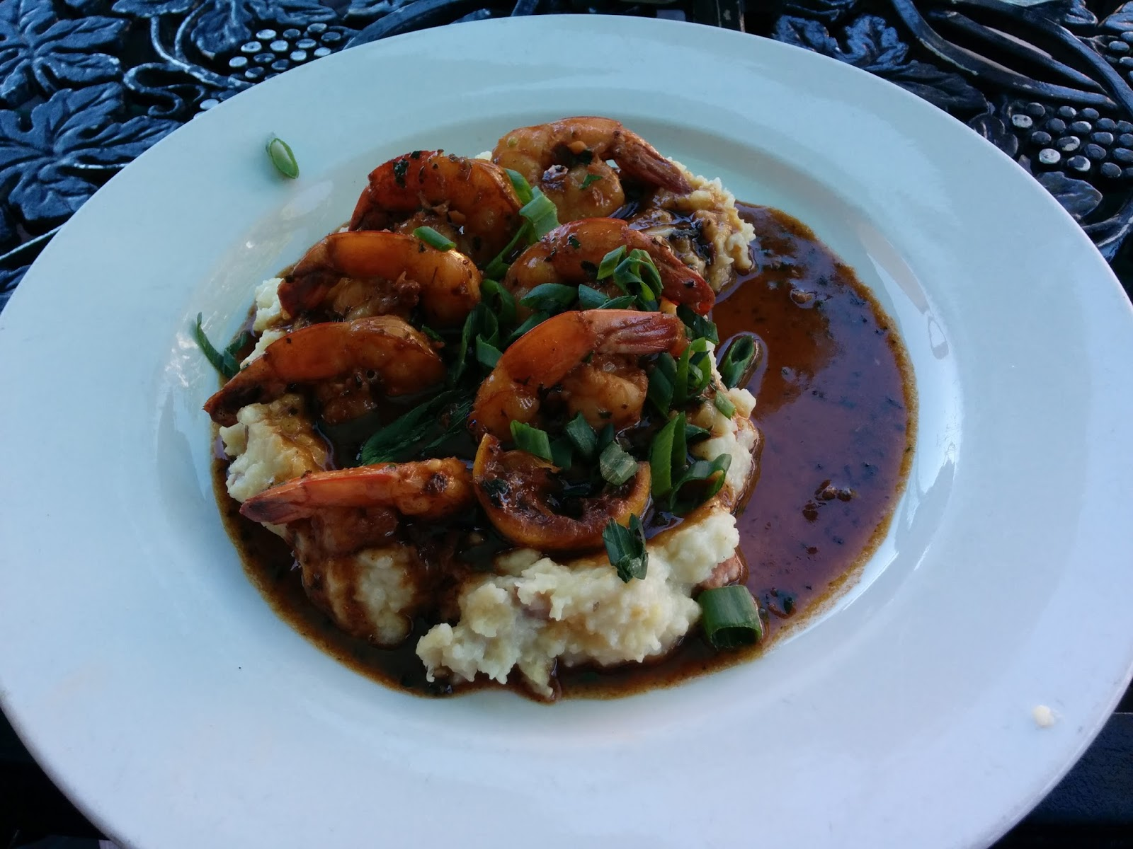 BBQ Shrimp and Grits Ralph Brennan's Downtown Disney