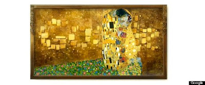 The honors of Google Doodle today gold Austrian painter Gustav Klimt's 150 Birthday.