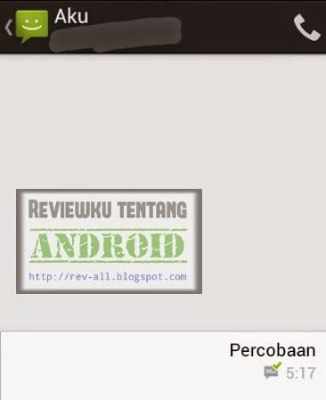 Contoh hasil pengaktifan laporan pengiriman SMS (rev-all.blogspot.com)