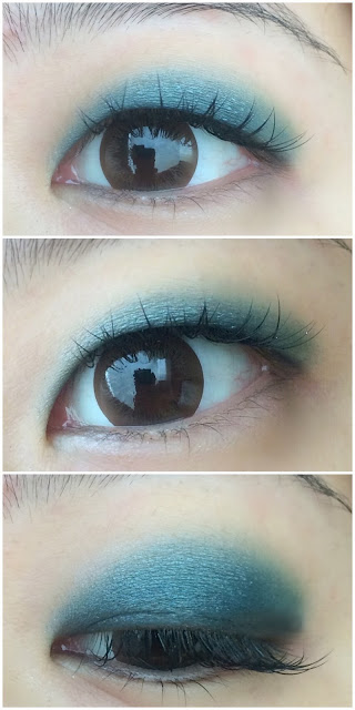 colourful smokey eyes